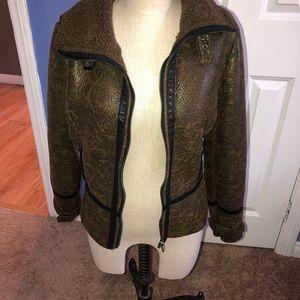 Forever 21 faux fur lined pilot jacket